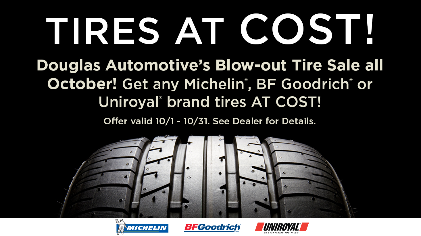 Tires At Cost | Douglas Automotive