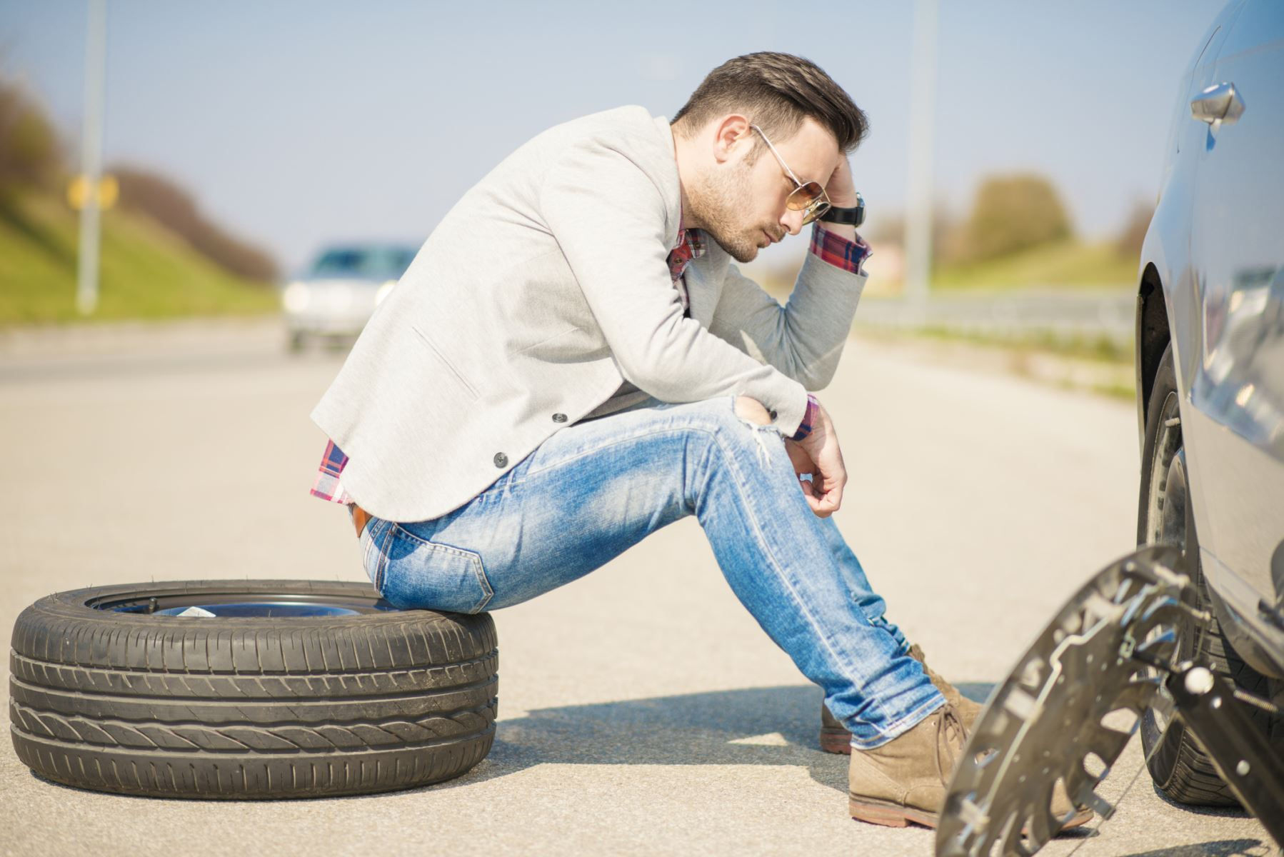 Check your tires before any road trip!