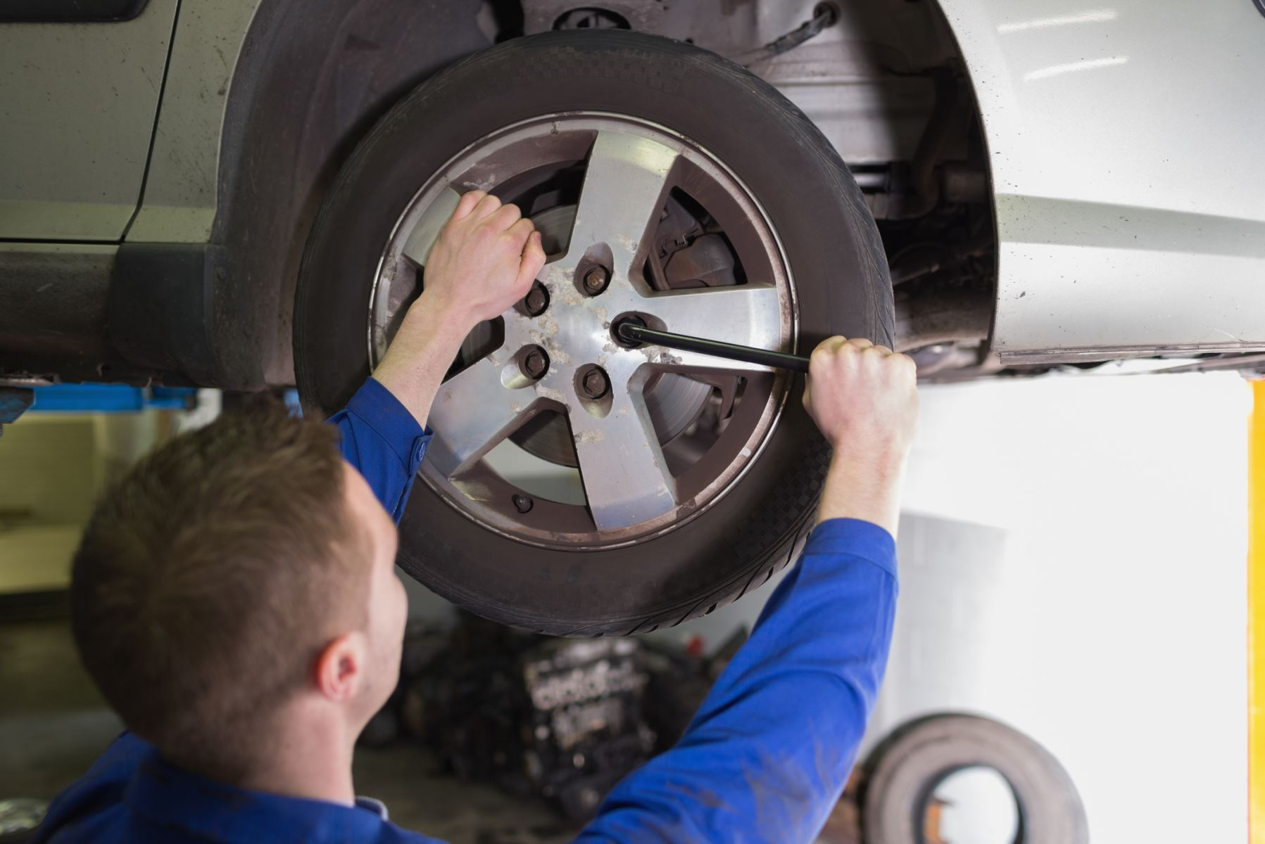 New tires are better served on the back of your car